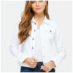NEW! Lightweight White Denim Jean Jacket
